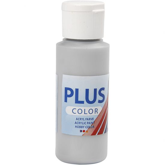 Plus Color Hobbyfärg Silver 60ml