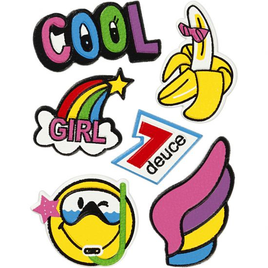 Soft Stickers Cool Girl